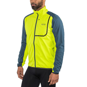 GORE WEAR C3 Gore Windstopper Veste Homme, citrus green/deep water blue
